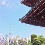 Pohled na Tokyo Sky Tree od Sensódži