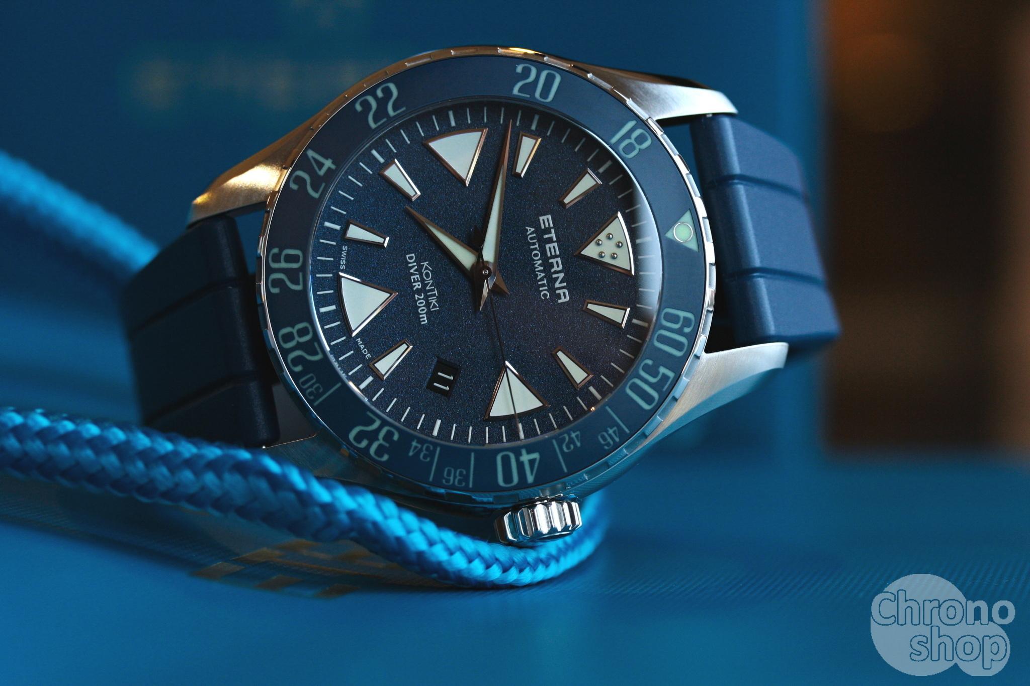 Eterna KonTiki Diver Blue